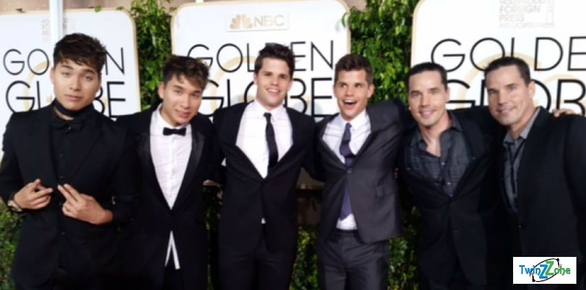 Jourdan Steele, Jeremy Steele, Max Carver, Charlie Carver at Golden Globes